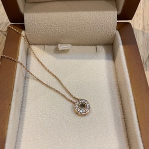 Jewelry - Diamond Circle Necklace with Gold Chain